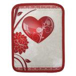 Corazón de la flor mangas de iPad