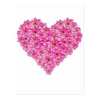 Corazón de la flor postal