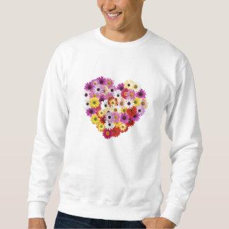 Corazón de la flor sudaderas encapuchadas