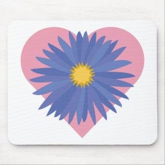 Corazón de la flor alfombrilla de raton