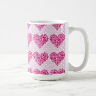 corazón de la flor taza