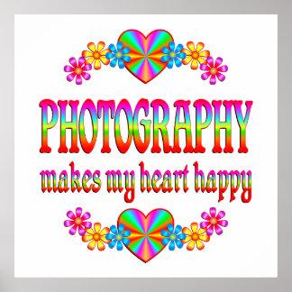 Corazón de la fotografía feliz poster