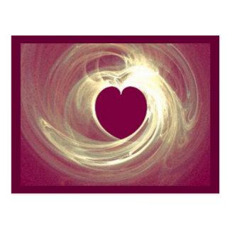 Corazón de la frambuesa tarjetas postales