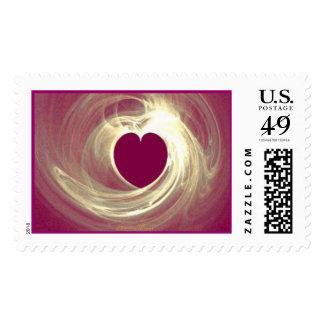 Corazón de la frambuesa timbre postal