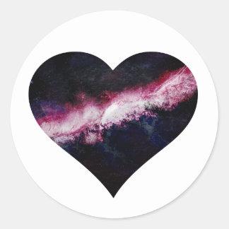 Corazón de la galaxia etiquetas redondas