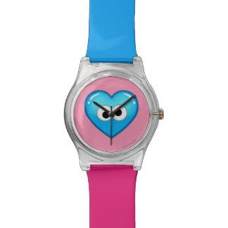 Corazón de la galleta relojes de pulsera