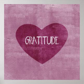 Corazón de la gratitud poster