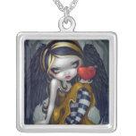 Corazón de la hada gótica de la tarjeta del día de pendientes personalizados