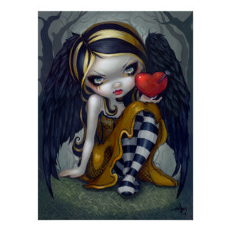 Corazón de la hada gótica de la tarjeta del día de poster