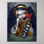 Corazón de la hada gótica de la tarjeta del día de póster
