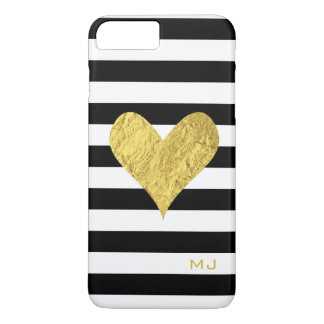 Corazón de la hoja de oro funda iPhone 7 plus