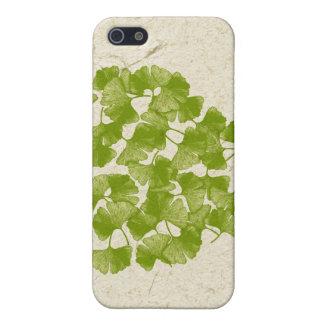 Corazón de la hoja del Ginkgo iPhone 5 Cárcasas