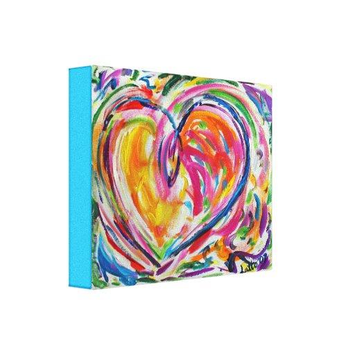 Corazón de la impresión del arte de la lona de pin impresión de lienzo