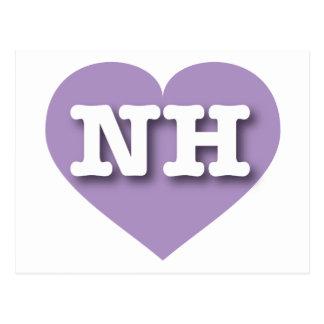 Corazón de la lavanda de New Hampshire - amor Postal