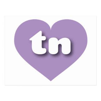 Corazón de la lavanda de Tennessee - mini amor Tarjeta Postal