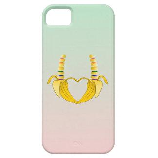 Corazón de la libertad del orgullo gay del plátano iPhone 5 funda