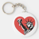 Corazón de la libertad llavero