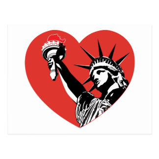 Corazón de la libertad tarjetas postales