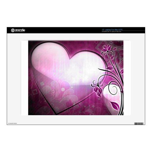 Corazón de la lila 38,1cm portátil calcomanía