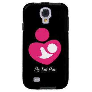 Corazón de la madre (personalizable) funda para galaxy s4