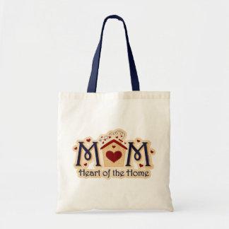 Corazón de la MAMÁ de la bolsa de asas casera