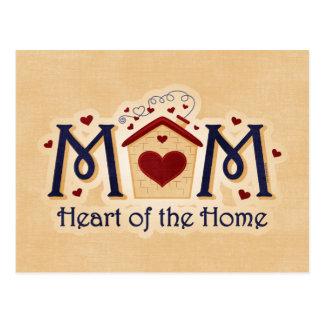 Corazón de la MAMÁ de la postal casera