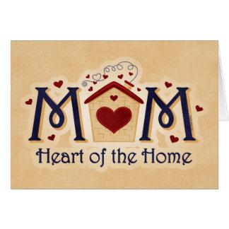 Corazón de la MAMÁ de la tarjeta casera
