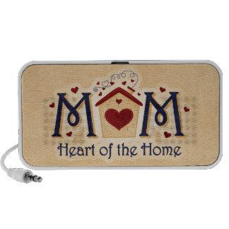 Corazón de la MAMÁ del altavoz del Doodle del hoga