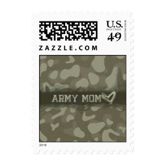 Corazón de la mamá del ejército del camuflaje del estampillas