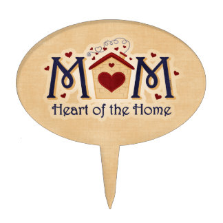 Corazón de la MAMÁ del hogar Figura De Tarta