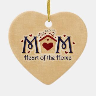 Corazón de la MAMÁ del ornamento casero Ornamento Para Arbol De Navidad