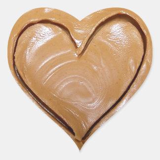 Corazón de la mantequilla de cacahuete calcomanías de corazones