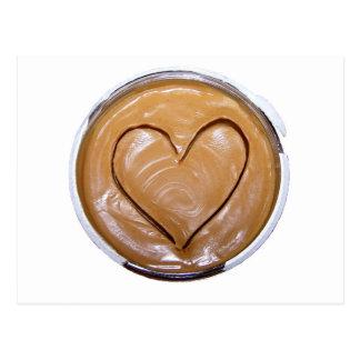 Corazón de la mantequilla de cacahuete tarjeta postal