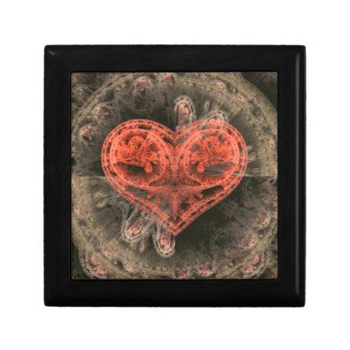 Corazón de la máquina cajas de joyas