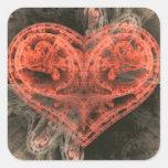 Corazón de la máquina calcomanía cuadradase
