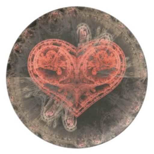 Corazón de la máquina platos