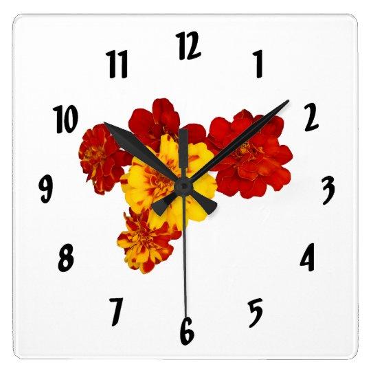 Corazón de la maravilla reloj cuadrado