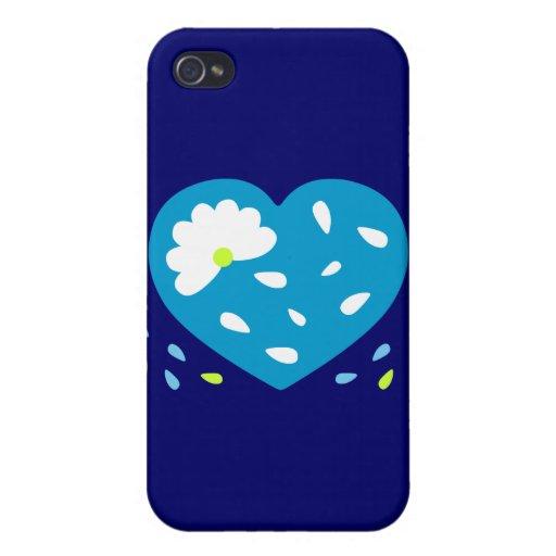 Corazón de la margarita iPhone 4 carcasas