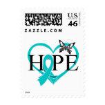 Corazón de la mariposa de la esperanza del cáncer