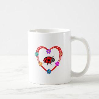 Corazón de la mariquita taza
