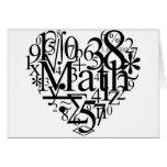 Corazón de la matemáticas tarjetas