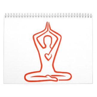 Corazón de la meditación calendarios de pared