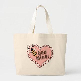 Corazón de la mina de la abeja bolsa de mano
