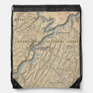 Corazón de la mochila del mapa de Canyonlands