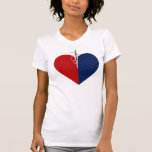 Corazón de la moda camiseta