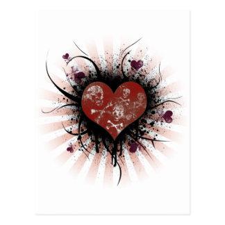 Corazón de la muerte tarjeta postal