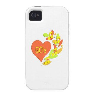 corazón de la música 50s vibe iPhone 4 funda