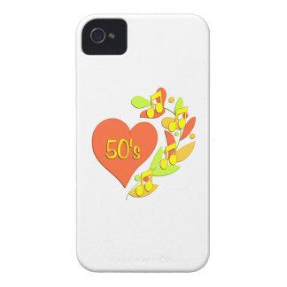 corazón de la música 50s Case-Mate iPhone 4 protectores