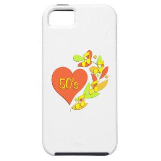 corazón de la música 50s iPhone 5 carcasa