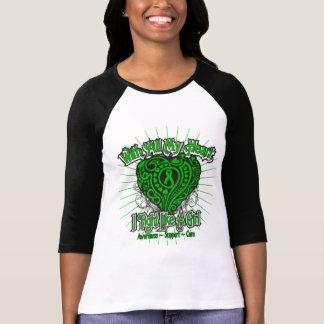 Corazón de la neurofibromatosis que lucho como un  camisetas